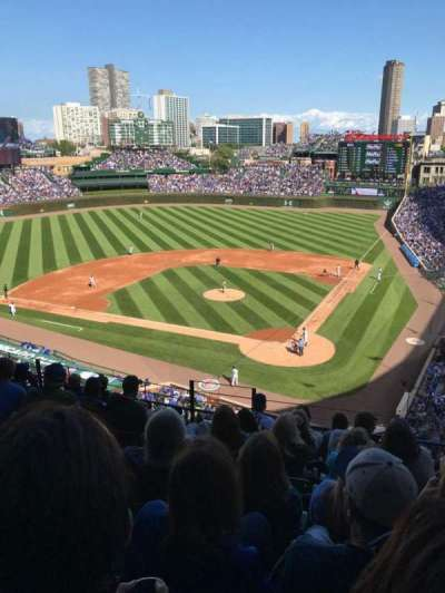Wrigley Field, section: 418, row: 8, seat: 3