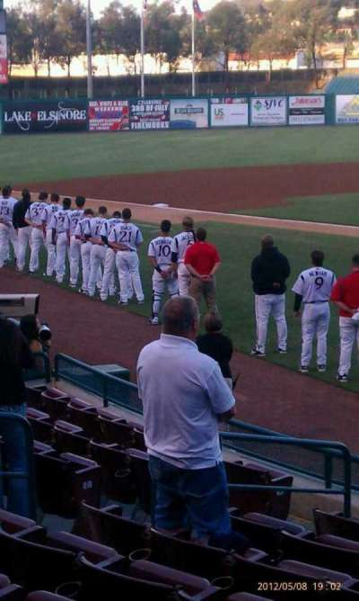 Lake Elsinore Diamond, section: 105, row: J, seat: 2