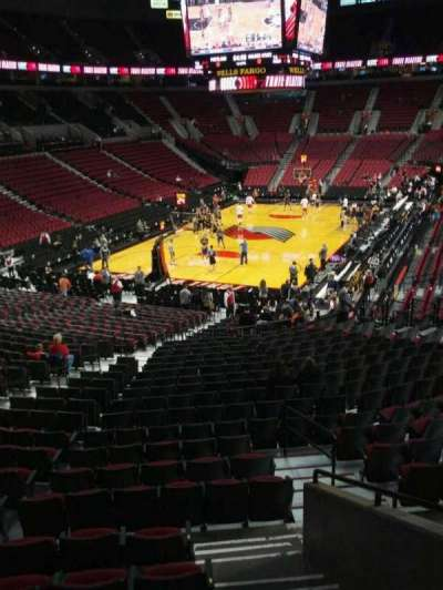 Moda Center, section: 206, row: g, seat: 2