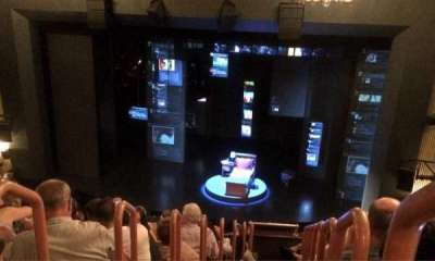Music Box Theatre, section: Mezzanine, row: K, seat: 2