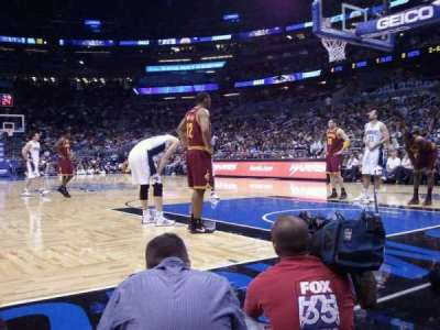 Amway Center, section: Floor S, row: 1, seat: 28