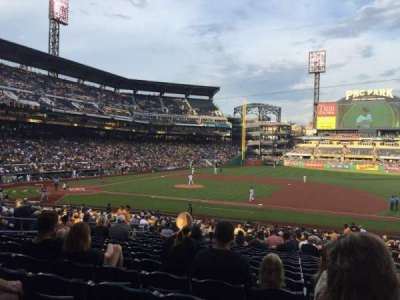 PNC Park, section: 109, row: V, seat: 4