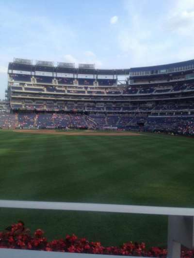 Nationals Park, section: 103, row: A