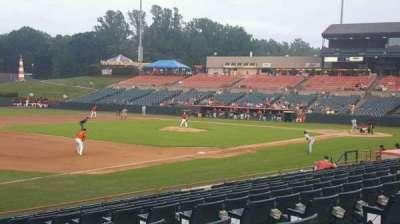 Prince George's Stadium, section: 124, row: P, seat: 3