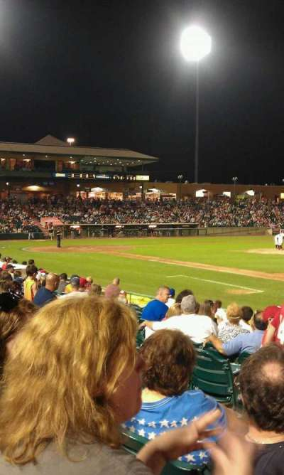 First Energy Park, section: 102, row: 13, seat: 18