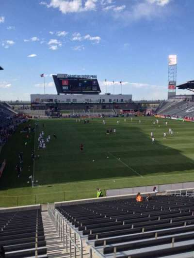 Dick's Sporting Goods Park, section: 121, row: 26, seat: 1