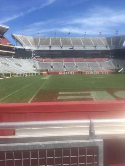 Bryant-Denny Stadium, section: A, row: 1, seat: 1