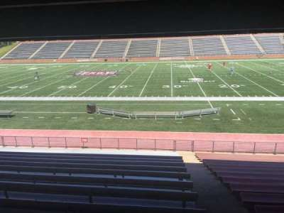 Veterans Memorial Stadium, section: 110, row: 17, seat: 1