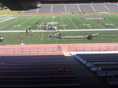 Veterans Memorial Stadium, section: 104, row: 17, seat: 1