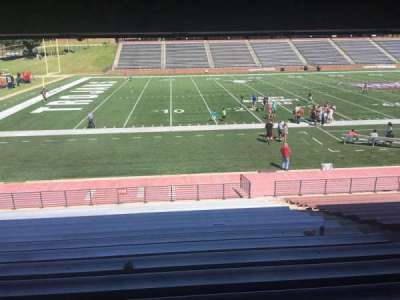 Veterans Memorial Stadium, section: 102, row: 17, seat: 1