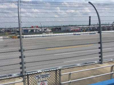 Talladega Superspeedway, section: Lincoln Section, row: 8, seat: 1