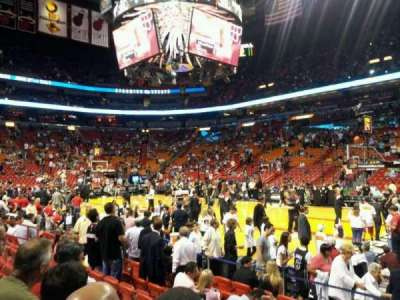 American Airlines Arena section 105