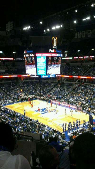 FedEx Forum, section: 116A, row: KK, seat: 19