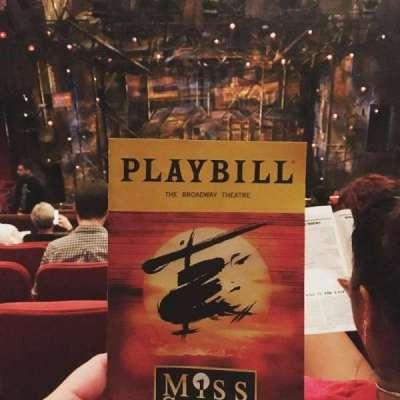 Broadway Theatre - 53rd Street, section: Rear Mezzanine, row: F, seat: 105