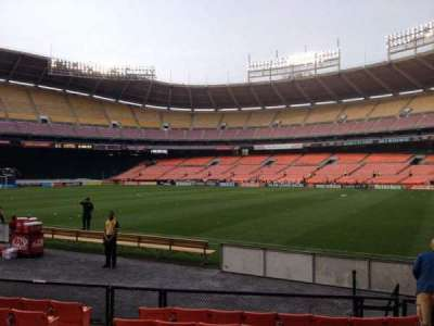 RFK Stadium, section: 102, row: 8, seat: 7