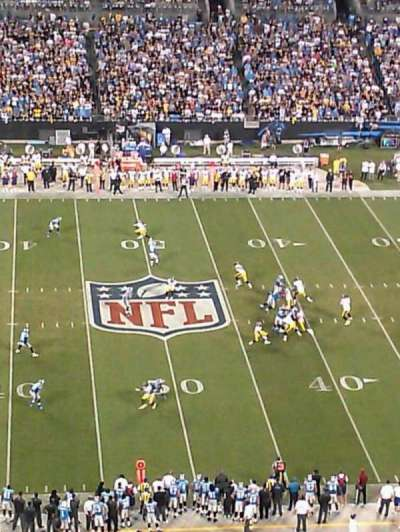Bank of America Stadium, section: 542, row: 17, seat: 21