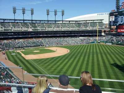 Comerica Park, section: 211, row: 3, seat: 4