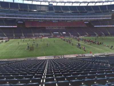 Gillette Stadium, section: 112, row: 34, seat: 12