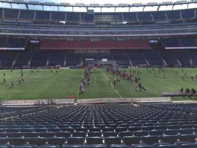Gillette Stadium, section: 110, row: 30, seat: 13