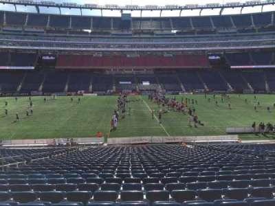 Gillette Stadium, section: 110, row: 30, seat: 13