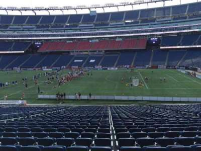 Gillette Stadium, section: 107, row: 34, seat: 12
