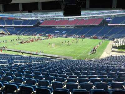 Gillette Stadium, section: 104, row: 38, seat: 12
