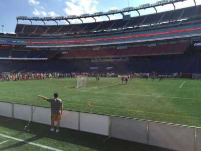 Gillette Stadium, section: 105, row: 1, seat: 5