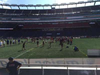 Gillette Stadium, section: 109, row: 1, seat: 12