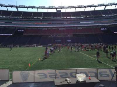 Gillette Stadium, section: 110, row: 1, seat: 11