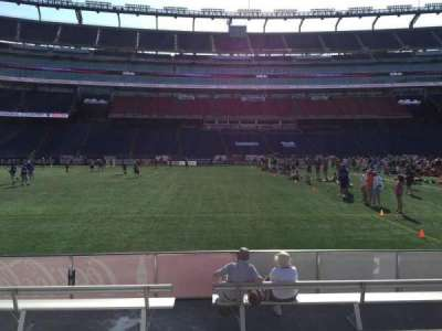 Gillette Stadium, section: 111, row: 1, seat: 13