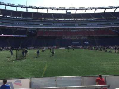Gillette Stadium, section: 112, row: 1, seat: 12