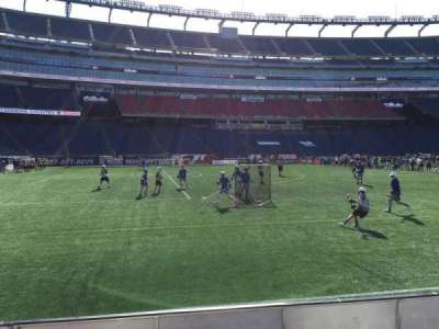 Gillette Stadium, section: 113, row: 1, seat: 12