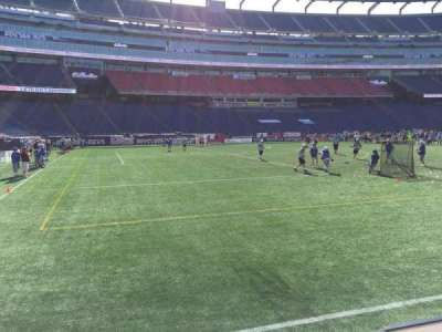 Gillette Stadium, section: 114, row: 1, seat: 12