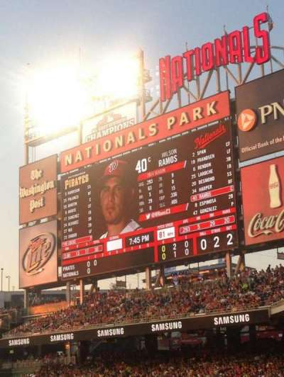 Nationals Park, section: 134, row: AA, seat: 5