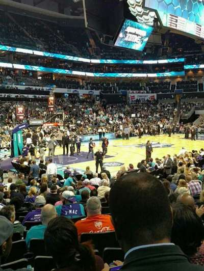 Spectrum Center, section: 116, row: L, seat: 19
