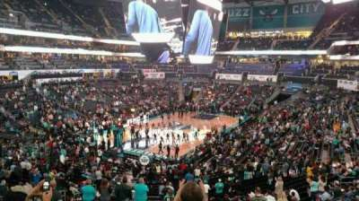 Spectrum Center, section: 116, row: DD, seat: 38
