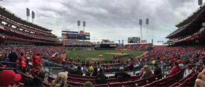 Great American Ball Park, section: 125, row: G, seat: 8
