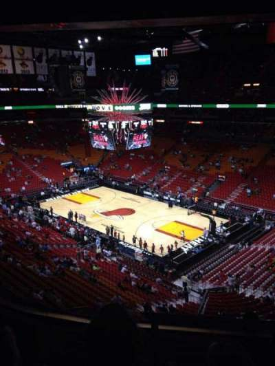 American Airlines Arena, section: 305, row: 5, seat: 1