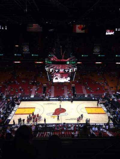 American Airlines Arena, section: 309, row: 11, seat: 3