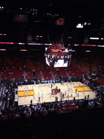 American Airlines Arena, section: 311, row: 10, seat: 6