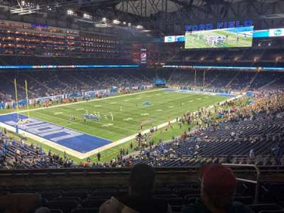 Ford Field, section: 223, row: 8, seat: 20