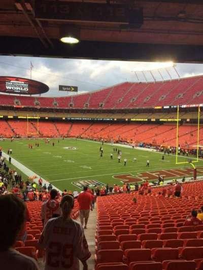 Arrowhead Stadium, section: 112, row: 36, seat: 27
