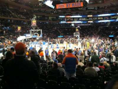 Madison Square Garden, section: 9, row: 12, seat: 7