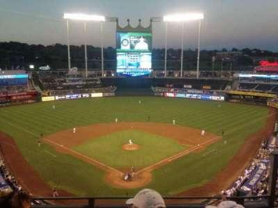 Kauffman Stadium, section: 420, row: K, seat: 9