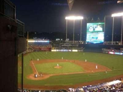 Kauffman Stadium, section: 312, row: G, seat: 1