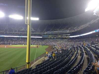 Kauffman Stadium, section: 107, row: U, seat: 15