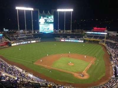 Kauffman Stadium, section: 417, row: JJ, seat: 8