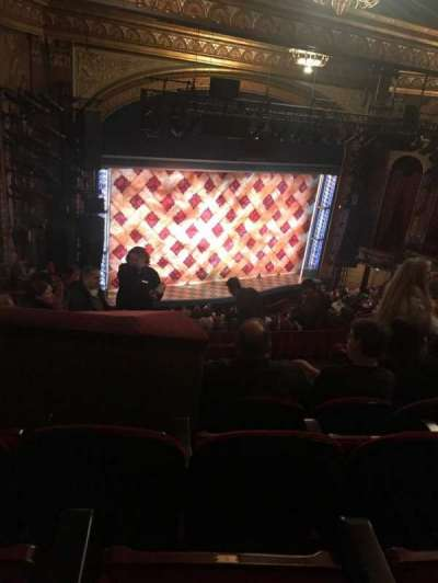 Brooks Atkinson Theatre, section: L Mezz, row: K, seat: 11