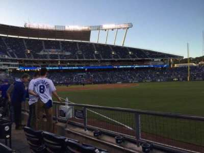 Kauffman Stadium, section: 145, row: G, seat: 6