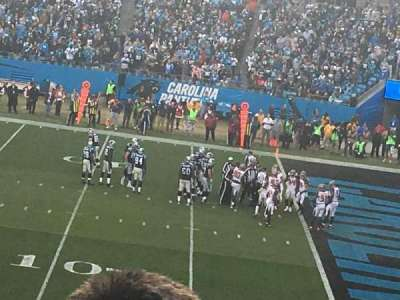 Bank of America Stadium , section: 312, row: 8, seat: 17